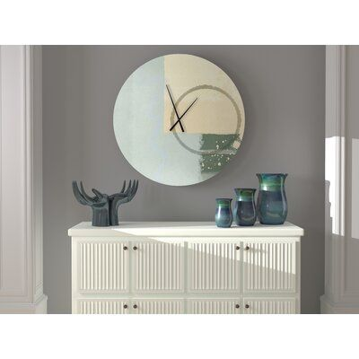 Ebern Designs This wall clock is a fine art wall clock perfect for any room. The textures and colors used to convey a sense of artistic mastery. Size: Medium