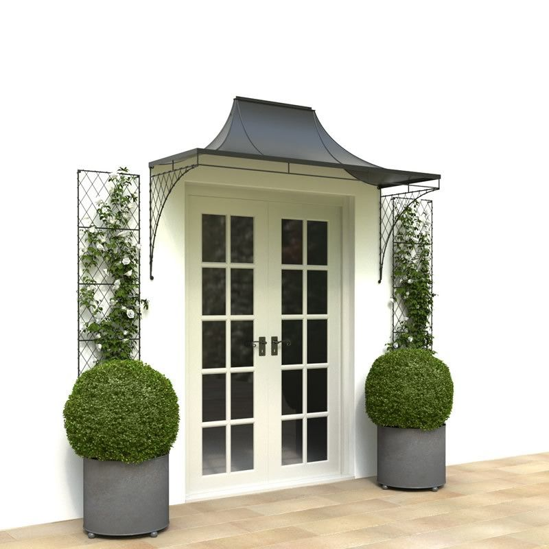 deep Georgian porch canopy for wider doors and French doors.  sc 1 st  Pinterest & Image result for porch designs uk | Entry | Pinterest | Porch ...
