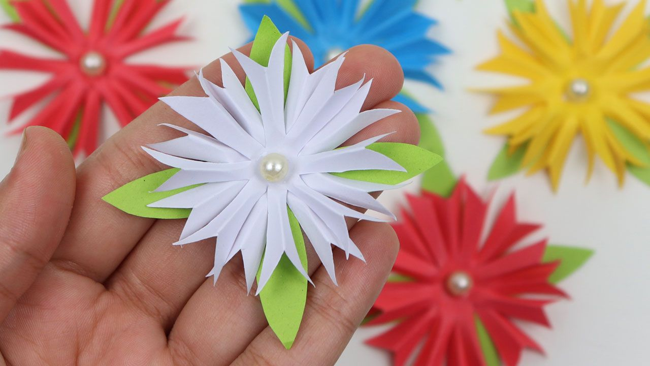 How To Make Easy Paper Flowers For Wall Hanging Room Decoration