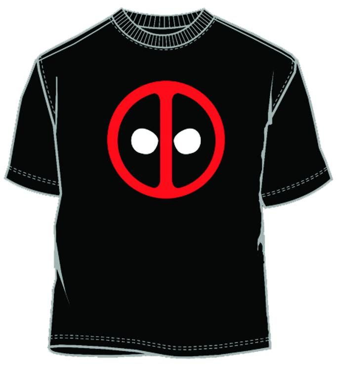 DEADPOOL ICON BLK T/S LG    Show the world how much you love the Merc with a Mouth with this styling black t-shirt!
