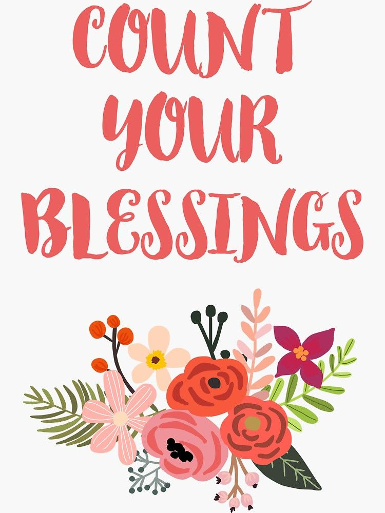 Count Your Blessings Sticker By Anabellstar Blessed Stickers Vinyl Sticker