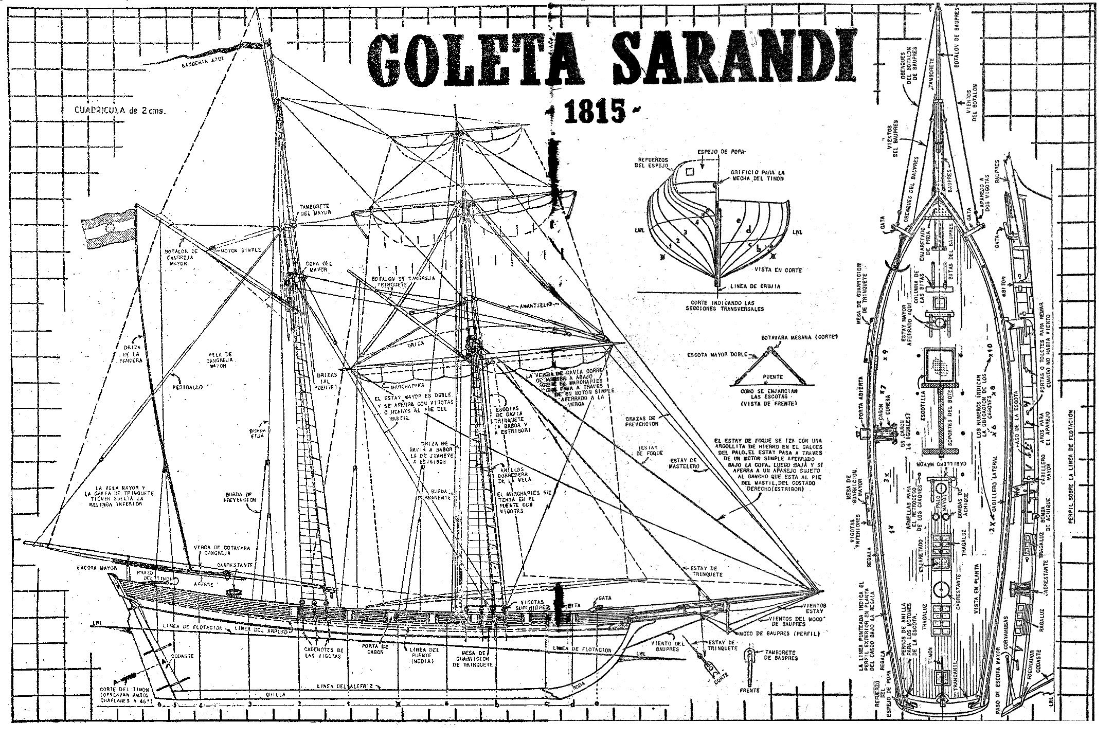 Como hacer un barco a escala la goleta sarand 10 como for Planos gratis