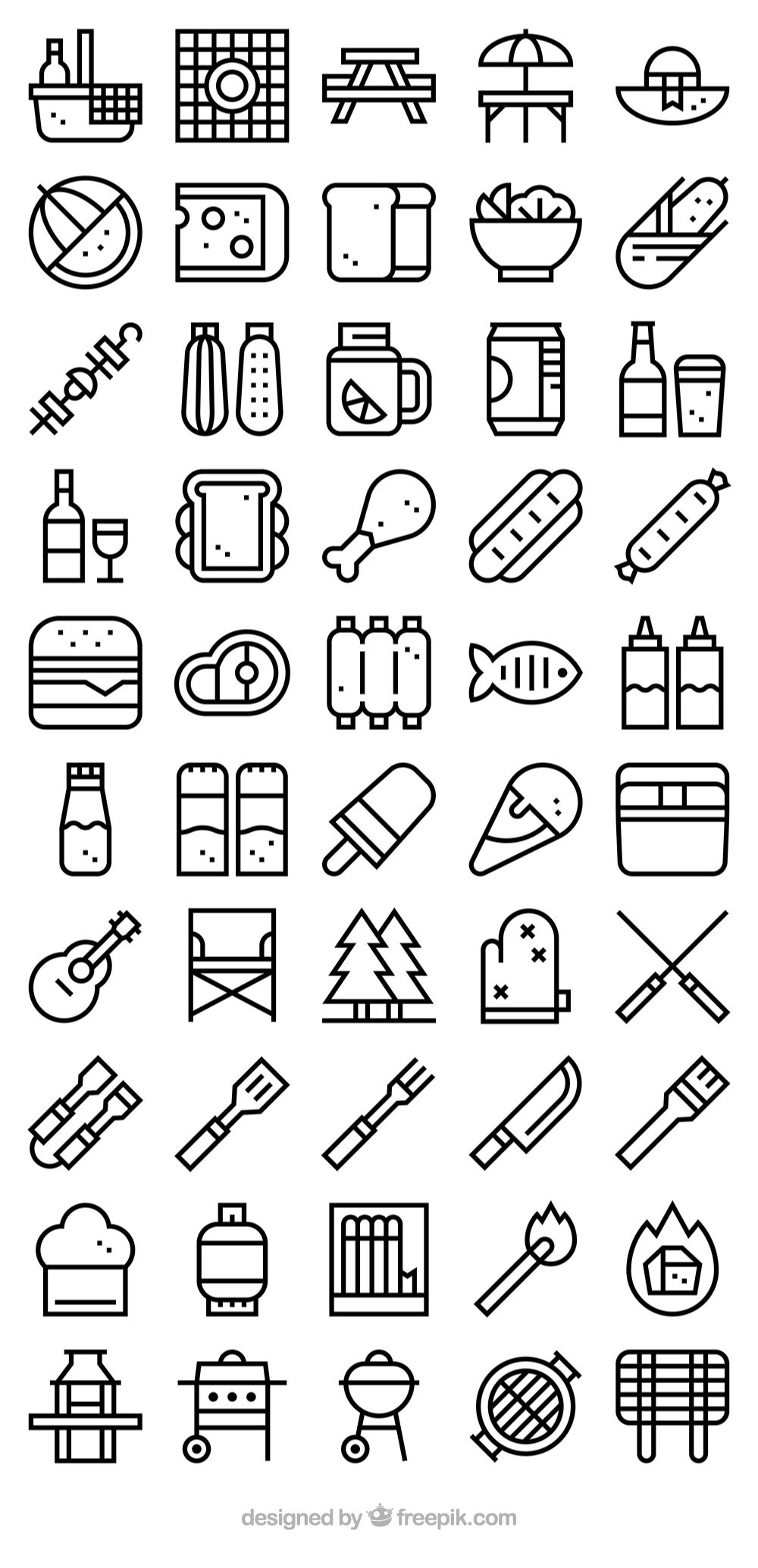 50 free vector icons of barbecue collection designed by