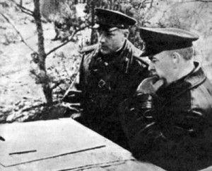Маршалы Жуков и Рокоссовский