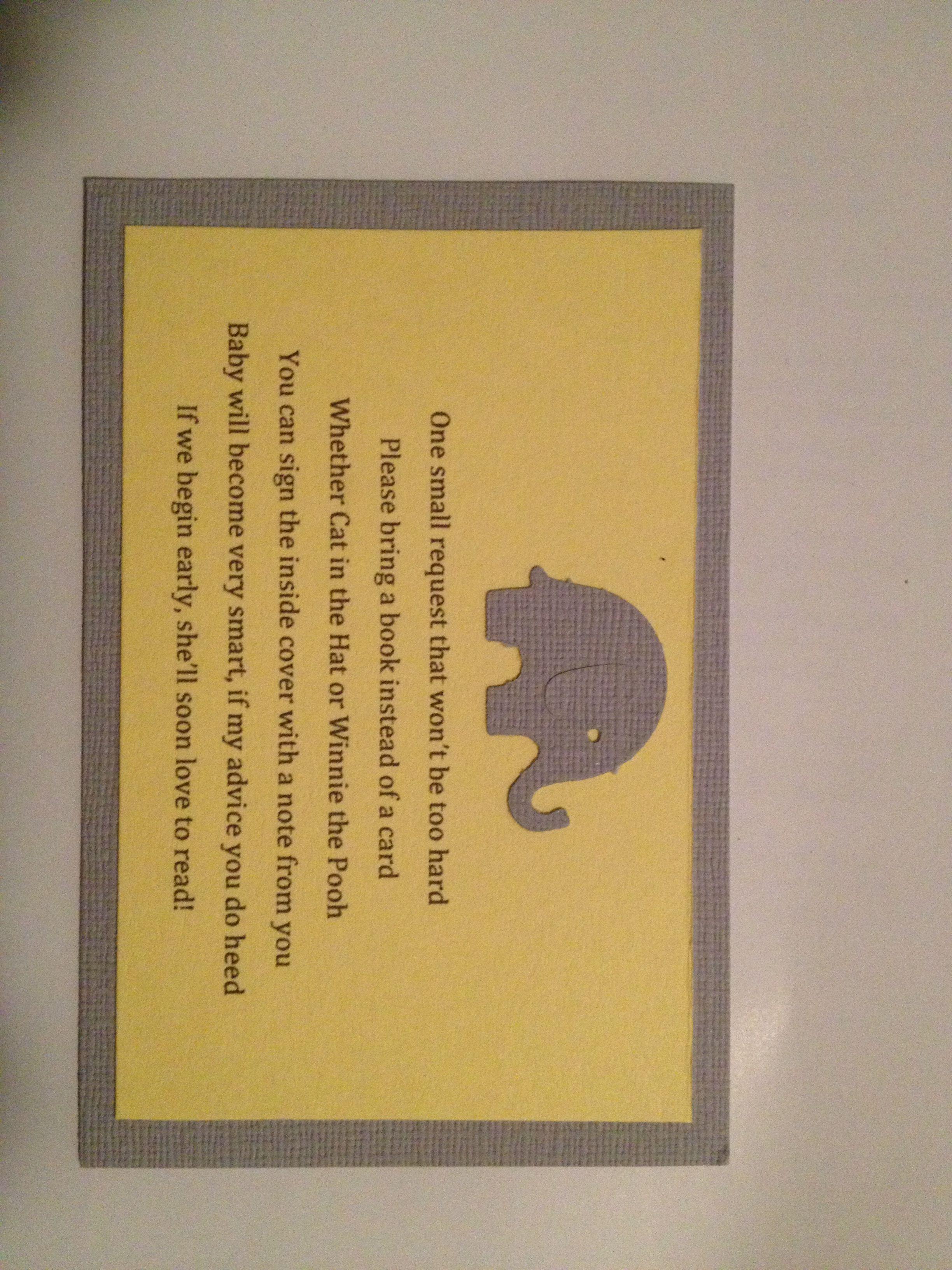 Baby Shower Book Poem Insert Choice Image Baby Shower Ideas