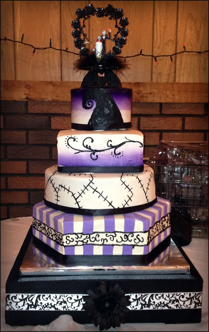 A nightmare before christmas wedding cake 1 bolos gticorock in a nightmare before christmas wedding cake 1 junglespirit Choice Image