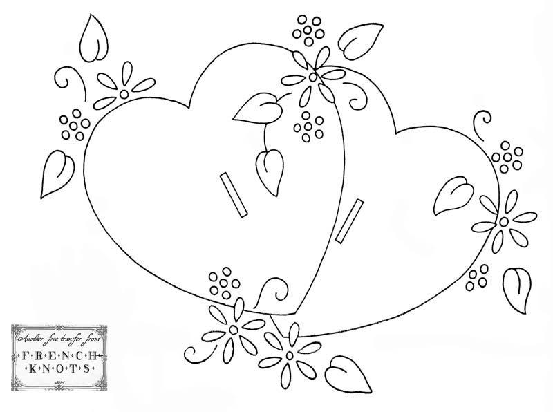 Valentine Hearts Embroidery Transfer Pattern | κοφτα | Pinterest ...