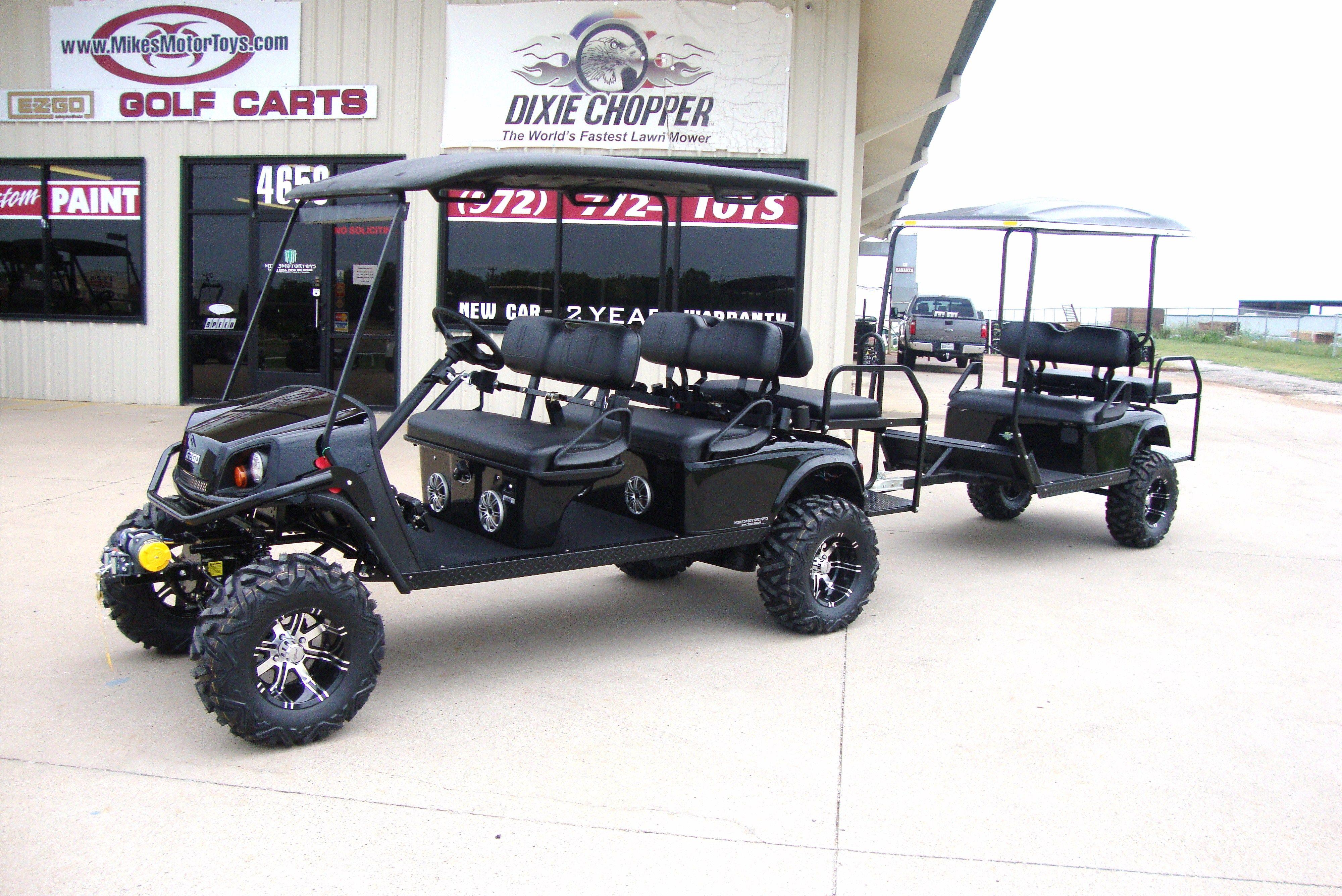 6 Passenger With A Trailer Golf Carts For Sale Golf Carts Club Car Golf Cart