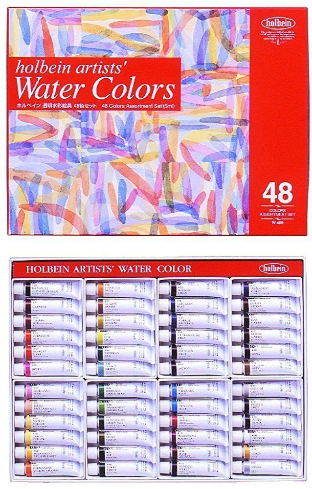 Details about Holbein transparent watercolors 48 colors set W409 5ml - ebay spreadsheet