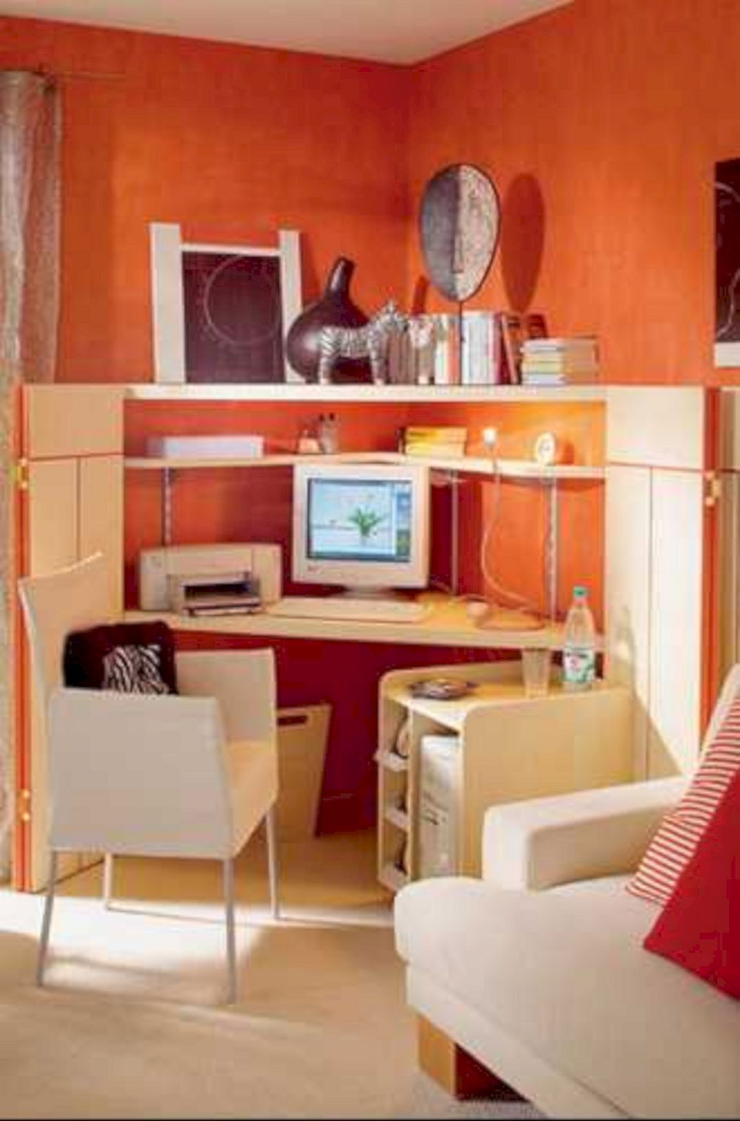 paint colors small bedrooms images%0A     Elegant Workspace Color Schemes Idea for Your Cozy Private Space