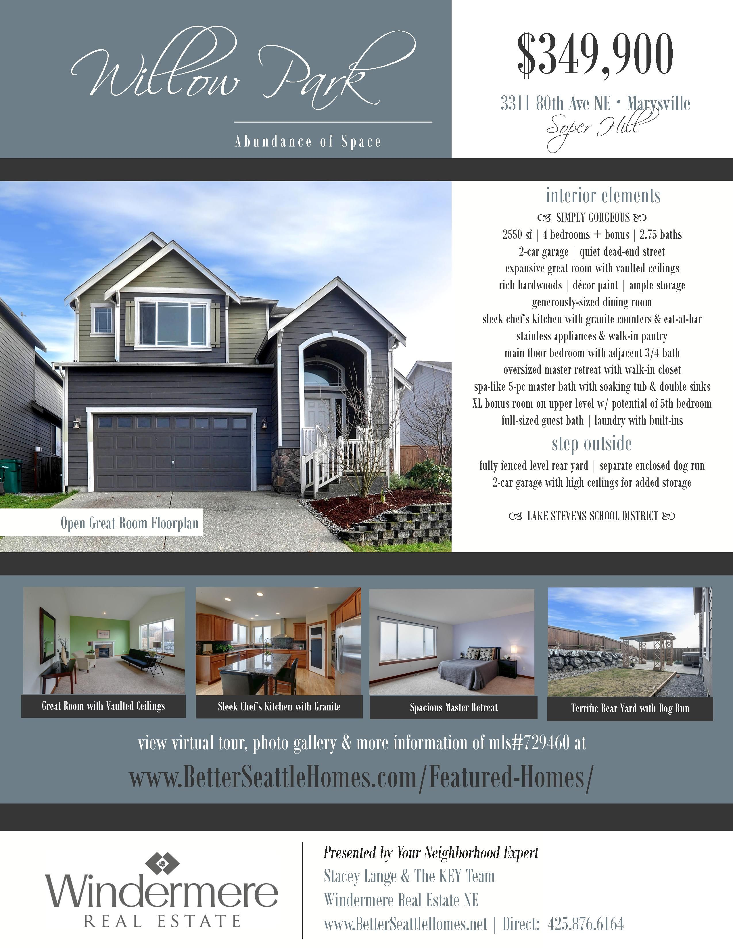 Learn More About This Willow Park Home For Sale And Search ALL Marysville Real