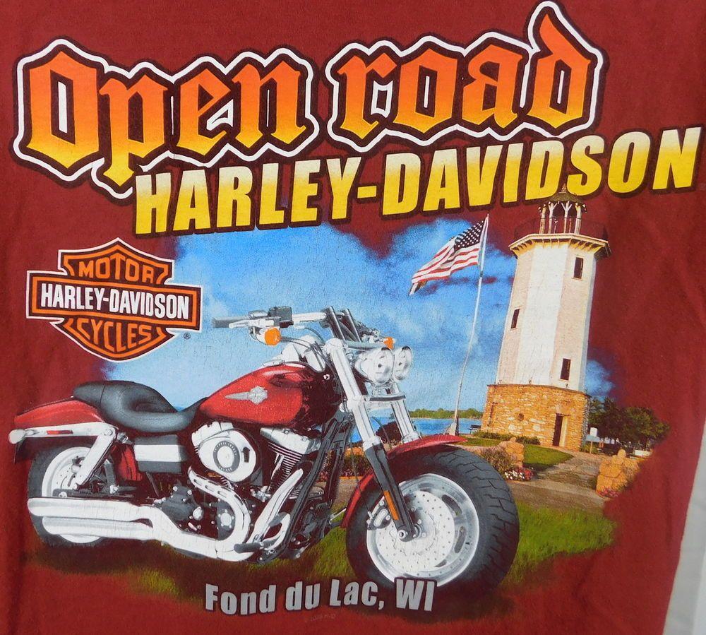 Details about Harley Davidson Open Road Fond Du Lac WI Cow