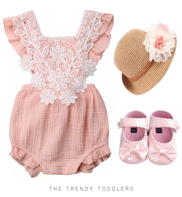 8052b072f Lace Vintage Romper | My future babies | Cute baby clothes, Baby ...