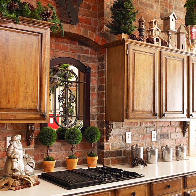 french country holiday decorating christmas kitchen decor on a
