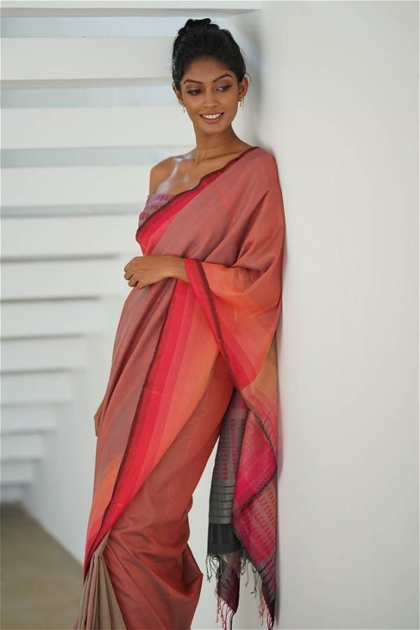 Nail Your Work Wear Outfit With These Summer Friendly Sarees | Saree, Saree styles, Coral saree