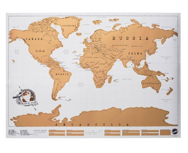 Scratch off world map wall maps bedrooms and room scratch map is brilliant its the perfect way to show off where youve been travelling while livening up your wall with a colourful world map gumiabroncs Image collections