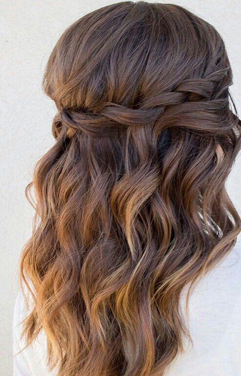 Easy Loose Waterfall Braid Hairstyles For Medium Length Hair