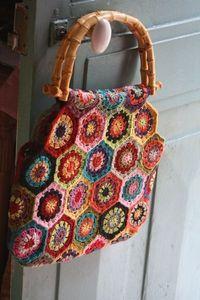 Hexagon crochet bag