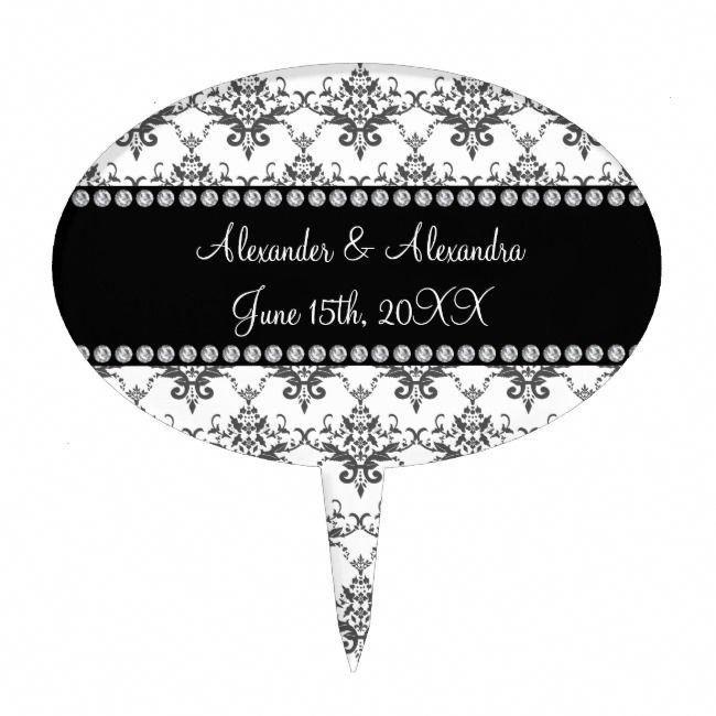 Wedding favors White damask Cake Topper #Ad , #sponsored, #damask#Cake#Topper#White #customizedcaketopperswedding