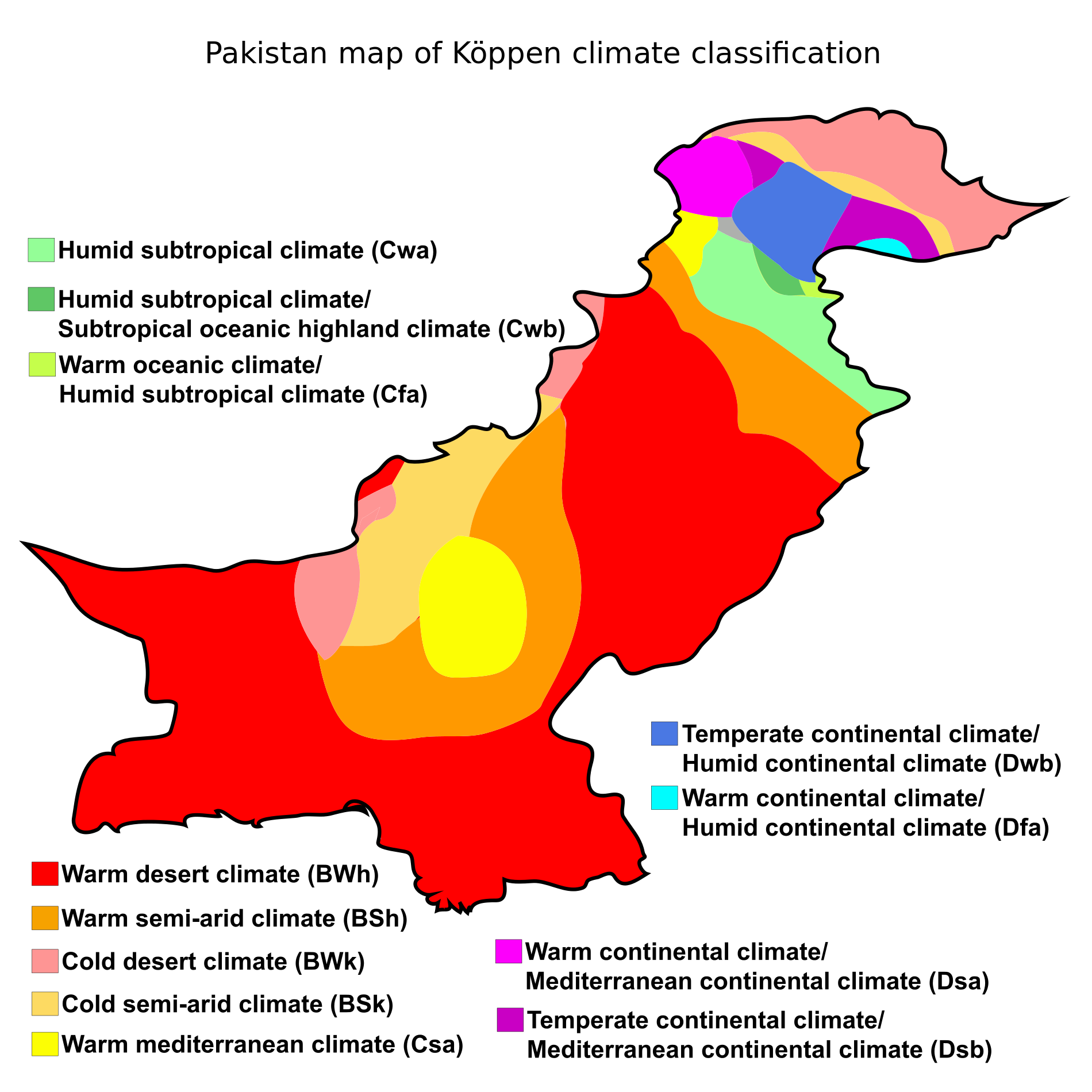 Koppen Climate Classification Of Pakistan With Images