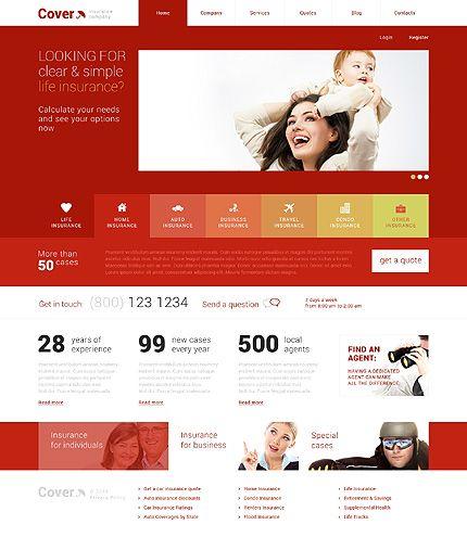 Template 48706 Cover Insurance Responsive Wordpress Theme With Images Wordpress Theme Responsive Business
