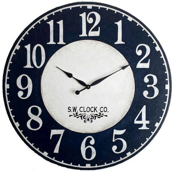 36 Inch Americana Large Wall Clock Patriotic Navy By Klocktime