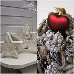 DIY Concrete Stars....nice For Christmas / Anleitung Beton Sterne.