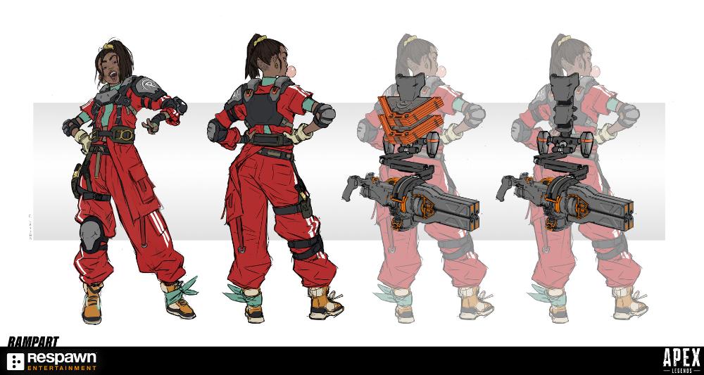 Artstation Apex Legends Rampart Cristina Lavina Apex Legend Character Design