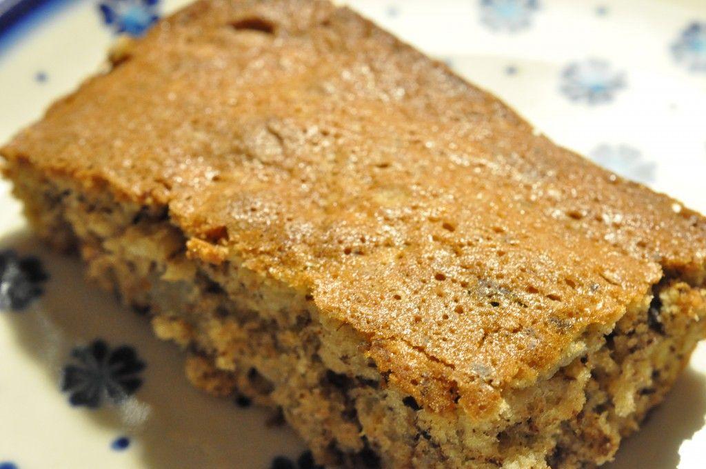 Lækker Banankage I Bradepande Med Chokolade Og Havregryn