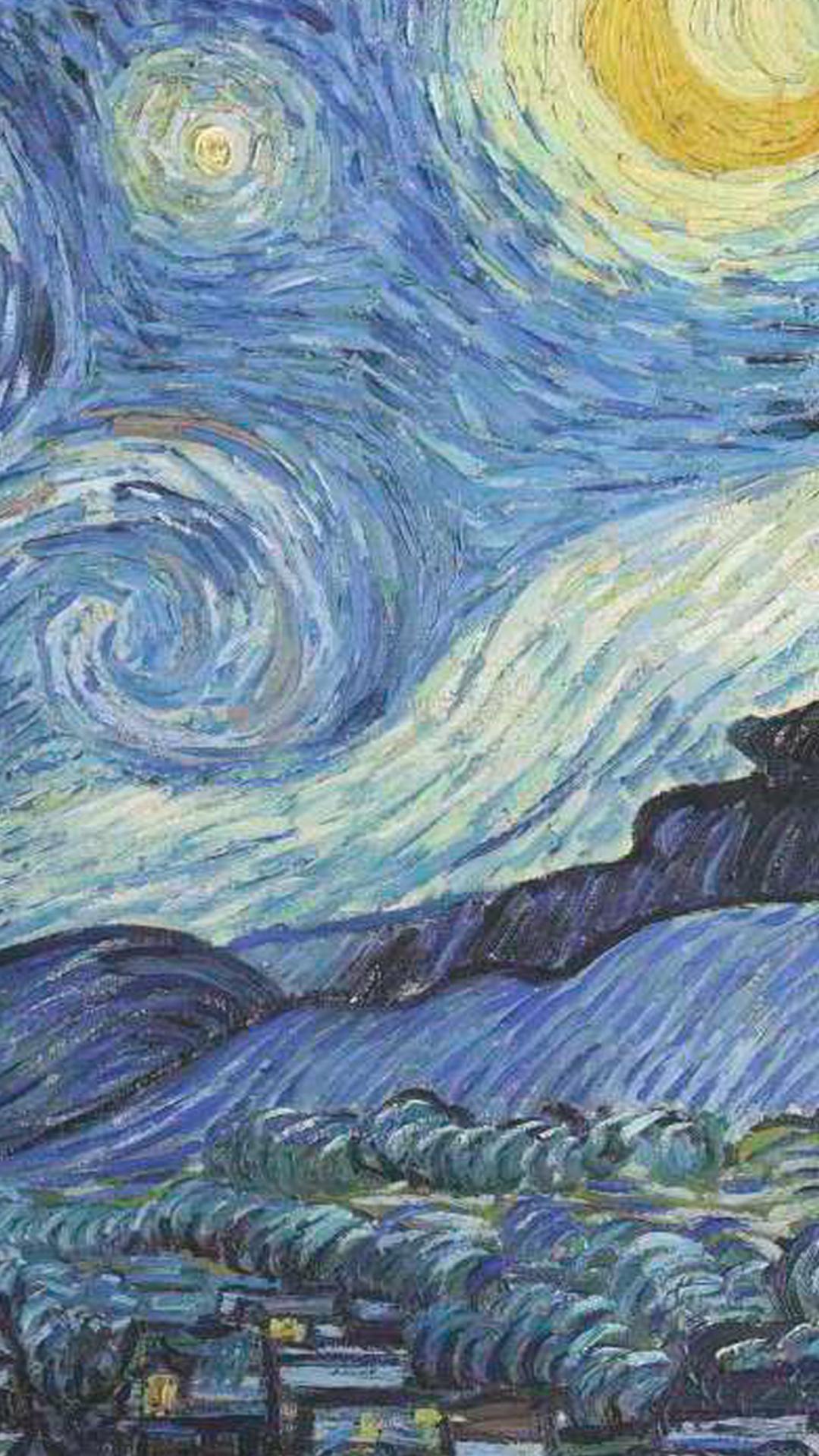Wallpaper Van Gogh By Gocase Blue Azul Yellow Amarelo Noite