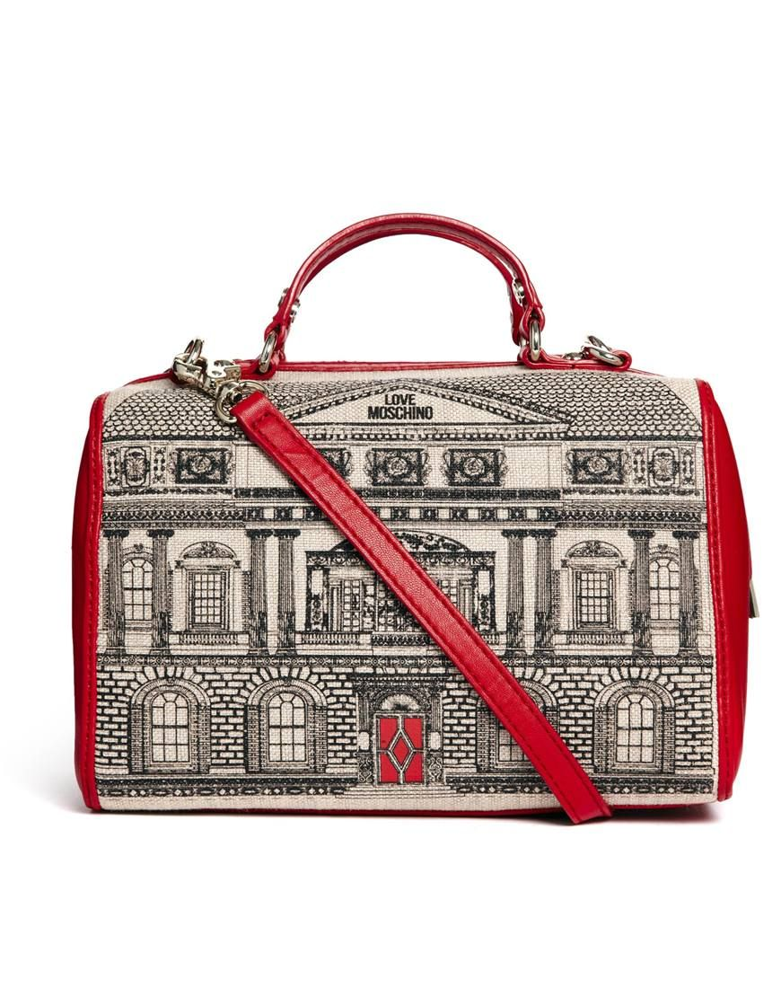 edac8a0048 Love Moschino House Across Body Bowling Bag | Bags/clutches ...