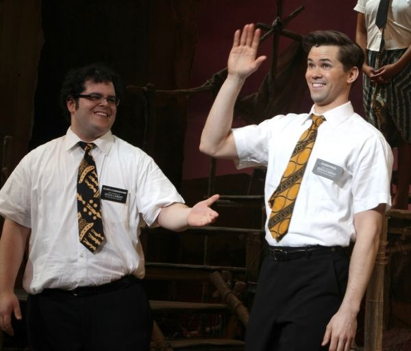 andrew rannells and josh gad as the original elder price and elder cunningham in book of mormon on broadway - Mormon Halloween Costumes