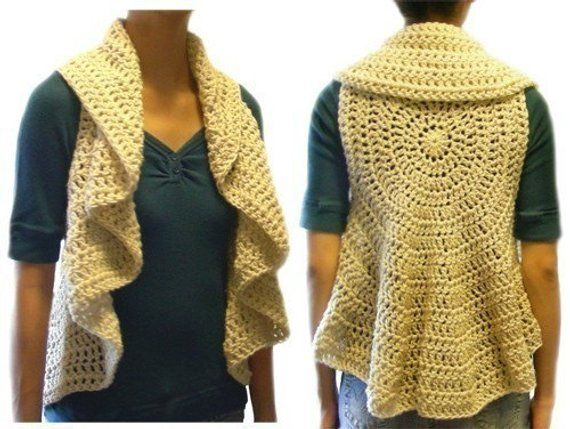 Circular Vest 9 Sizes Pdf Crochet Pattern Instant Download