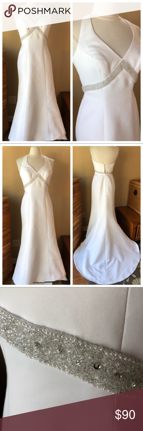 Galina Wedding Dress Sparkles T8404 Simple Elegance Wedding Dress With Sparkle Beading Trim B Sparkle Wedding Dress Elegant Wedding Dress Galina Wedding Dress