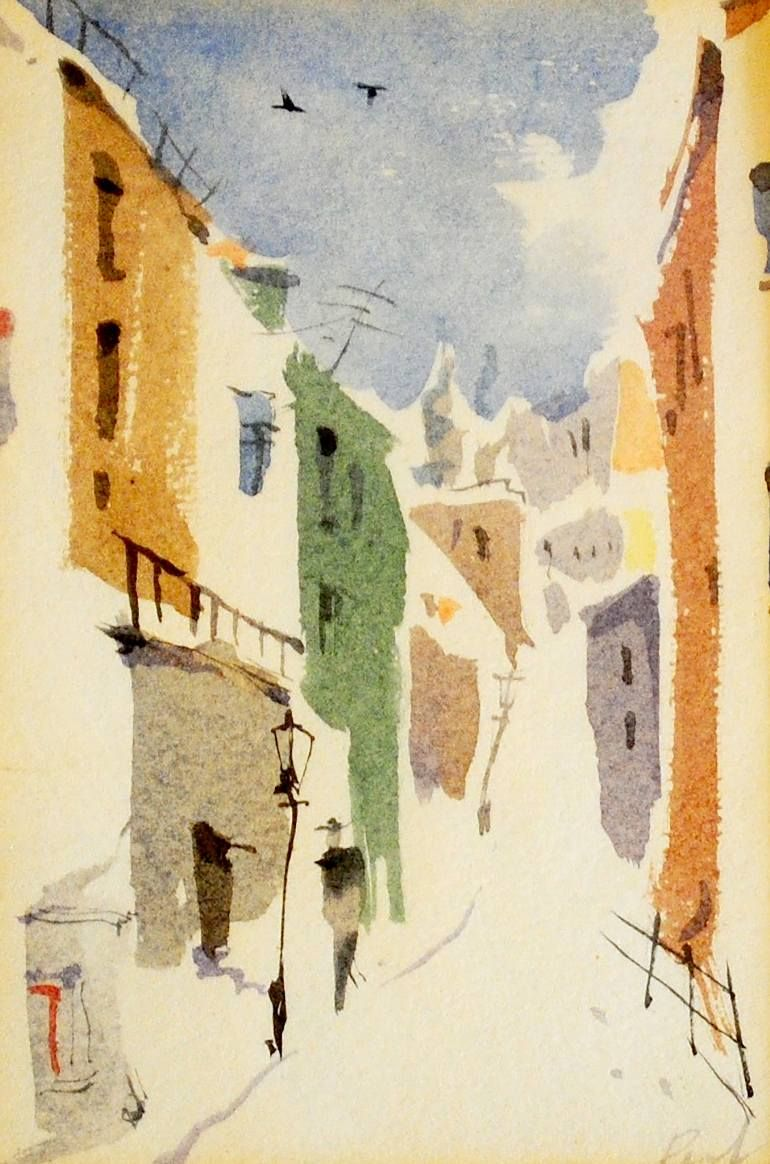Buy Winter 2 A Watercolor Painting On Paper By Gregory Radionov