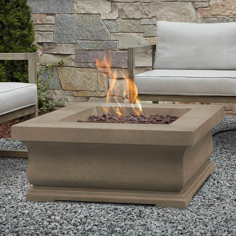"""Treviso Concrete Propane Fire Pit Table #""""concretefirepit"""" - Treviso Concrete Propane Fire Pit Table In 2018 Fire Pit Materials"""