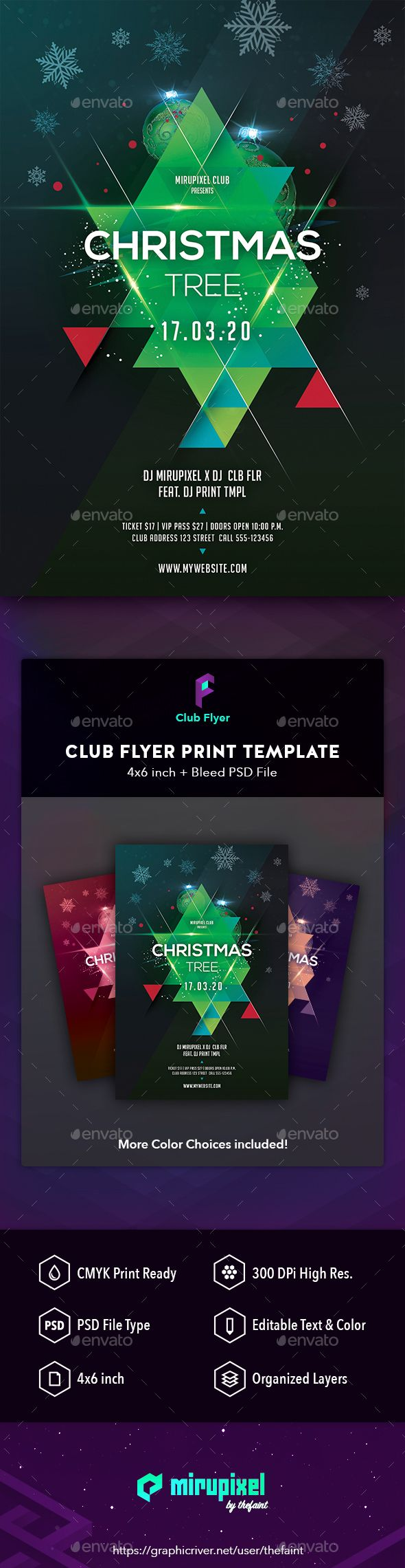 Club Flyer Christmas Tree  Christmas Flyer And Flyer Template