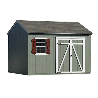 Heartland Common 12 Ft X 10 Ft Interior Dimensions 12 Ft X 10 Ft Gentry Saltbox Engineered Storage Shed Inst In 2020 Wood Storage Sheds Storage Shed Wood Storage