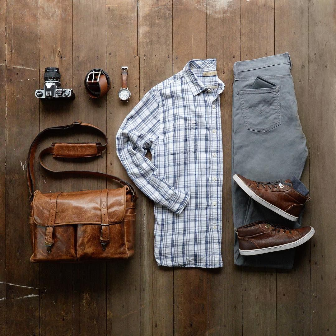 The leather Brixton messenger