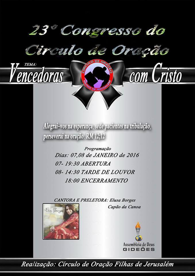 Gideoes Cangucu Rs 23º Congresso Do Circulo De Oracao Vencedoras