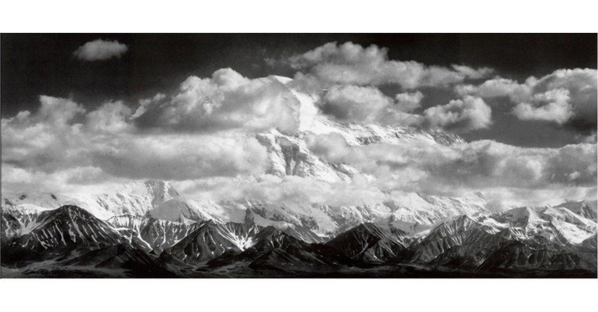 Ansel Adams Mt Mckinley Range Clouds Denali National