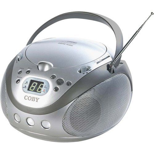 Jensen CD-545 Portable Stereo CD Player with Cassette Recorder and AM//FM Radio