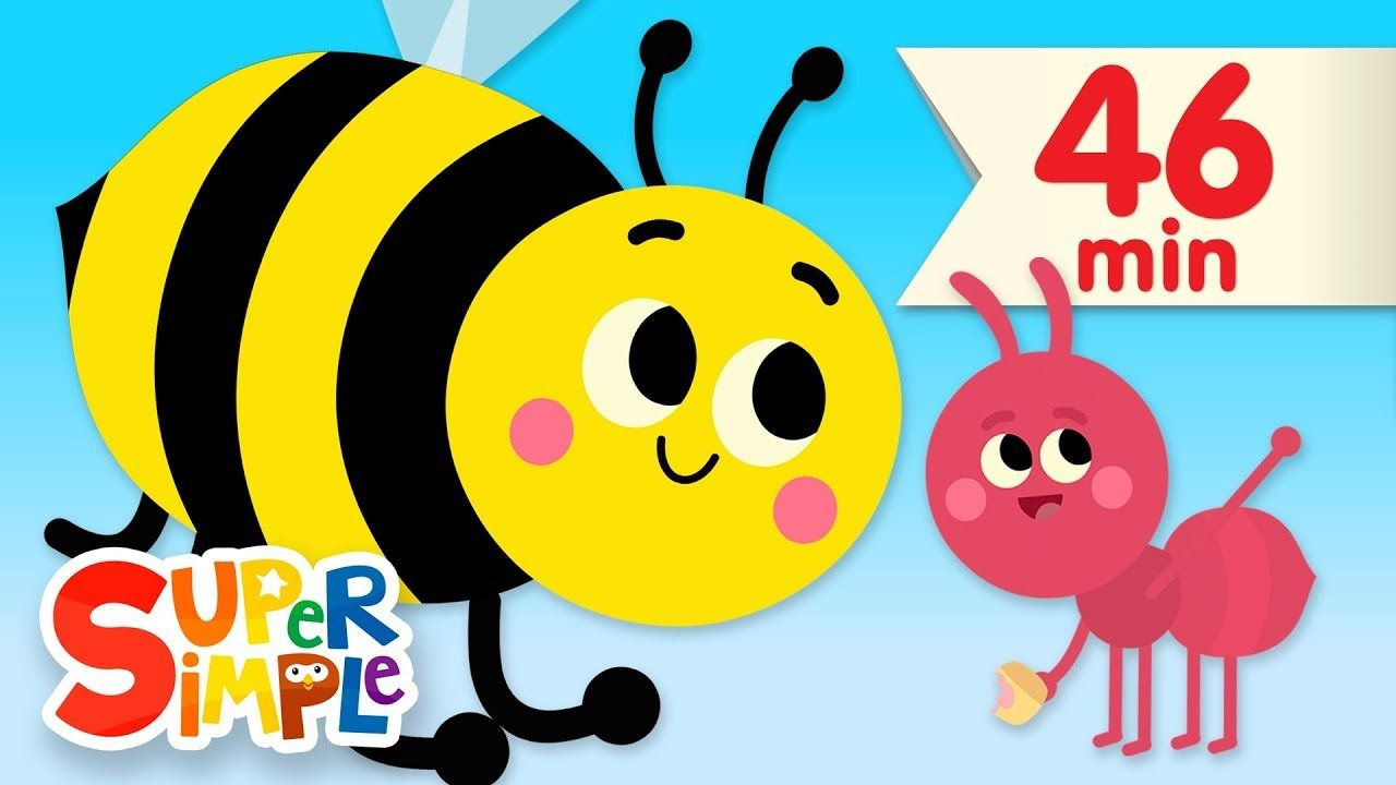 The Bees Go Buzzing More Kids Songs Nursery Rhymes In 2020 Super Simple Songs Kids Songs Nursery Rhymes