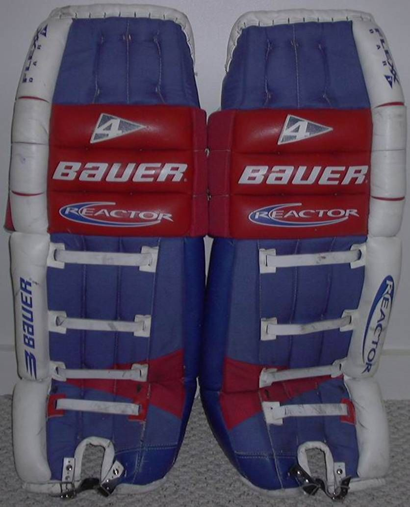 Mike Richter Game Worn Pads 1998 99 Nyr Game Used Hockey Goalie
