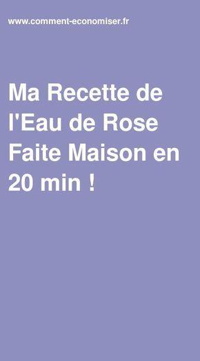 Ma Recette de l'Eau de Rose Faite Maison en 20 min !   Eau de rose, Fait maison, Faire soi meme