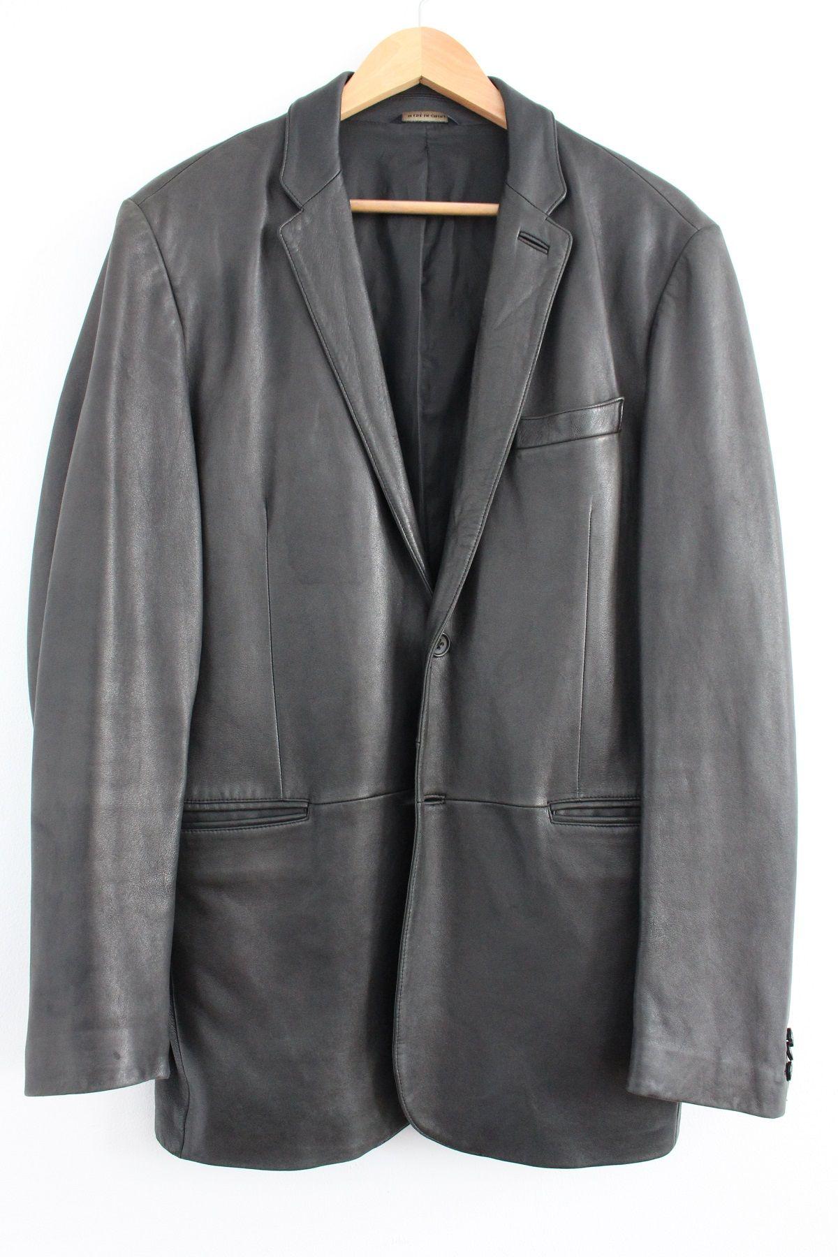 Banana Republic Genuine Leather Men's Jacket Mens