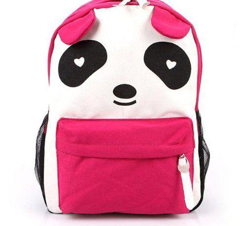 Plain 2 Pocket Backpack Rucksack School Bag Panda Logo Canvas Shoulder Bag Backpack (Pink) by unbrand, http://www.amazon.com/dp/B00DJPIB22/ref=cm_sw_r_pi_dp_yZCYrb09MNEFE