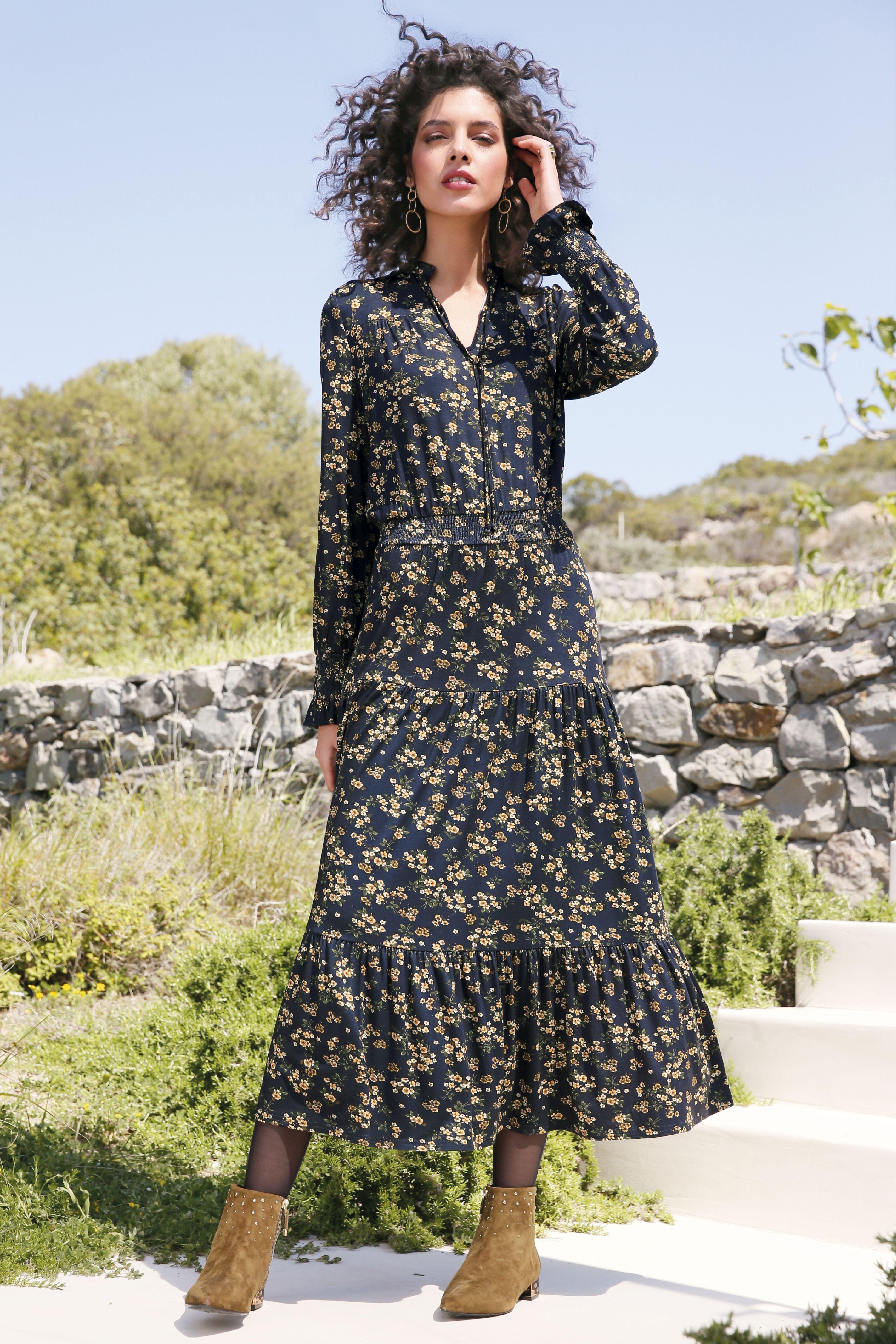 Jersey Dress - PETER HAHN | Long sleeve jersey dress