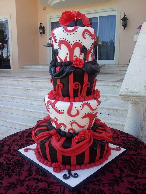 20120324_162649 | Black wedding cakes, Wedding cake and Cake