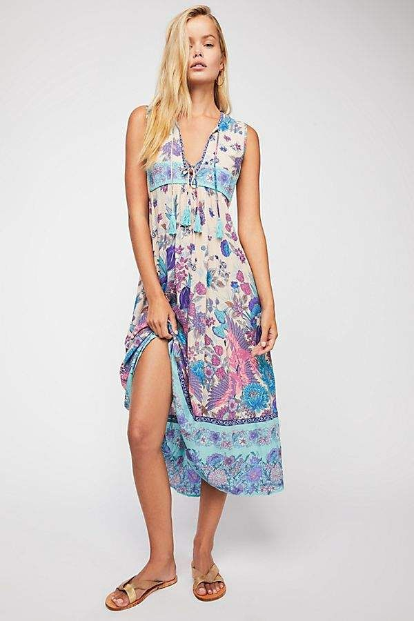 DAY Birger et Mikkelsen Spell And The Gypsy Collective Siren Song Boho Midi  Dress b8994f0b0